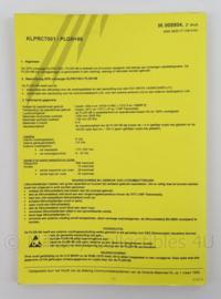 KL Landmacht Instructiekaart GPS ontvanger PLGR96 - IK8904 - afmeting 21 x 15 cm - origineel