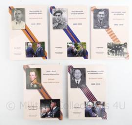 Zeldzame 5delige serie boeken van de 5 hoogste Nederlandse leger onderscheidingen Studiekring Ridderorden en Onderscheidingen Erik Muller - niet in de winkel te koop - met handtekening Marco Kroon - origineel