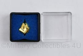 Politie speld in doosje - 3,5 x 3,5 cm - origineel