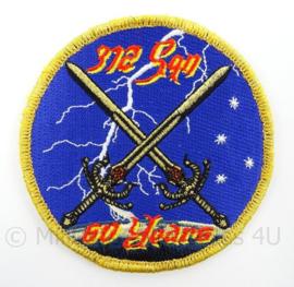KLu Luchtmacht eenheid embleem 60 years 312 squadron - met klittenband - doorsnede 10 cm - origineel