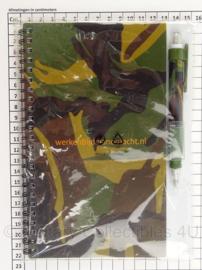KL Nederlandse leger notitieboekje woodland met toebehoren - 13 x 22 cm - origineel