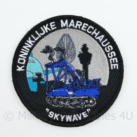 Koninklijke Marechaussee Skywave Schiphol embleem - met klittenband  - 9 cm. diameter