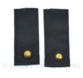 Kmar Marechaussee vorig model epauletten zwart wollig - rang Kornet - 11 x 4,5 cm - origineel