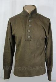 Trui - Sweater High Neck bruin wol - US Army - maat Small AANBIEDING - origineel