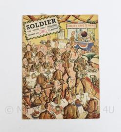 The British Army Magazine Soldier December 1954 -  Afkomstig uit de Nederlandse MVO bibliotheek - 30 x 22 cm - origineel