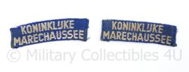 Koninklijke Marechaussee straatnamen paar - vroeg model -  origineel