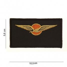KLU Luchtmacht Borst naamembleem - stof - 10,5 x 5,6 cm.