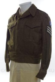 Canadese Battledress jacket met insignes - Sergeant - 1955 - size 2 -  origineel