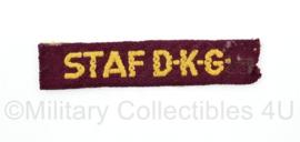 MVO straatnaam enkel Staf DKG - 8.5 x 2 cm - origineel