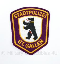 Zwitserse Stadtpolizei ST Gallen embleem - 9,5 x 7,5 cm - origineel