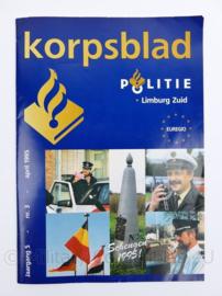Politie Korpsblad Limburg Zuid april 1995 - 29,5 x 21 x 0,3 cm - 28 pagina's - origineel
