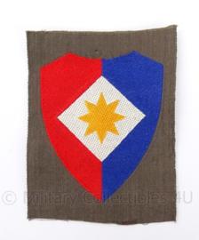 KL DT eenheid embleem voor officieren van de staf van het 1ste legerkorps ONGEVOUWEN - origineel