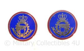 ABL Belgische leger kraaginsigne paar metaal  - 30 mm -  origineel
