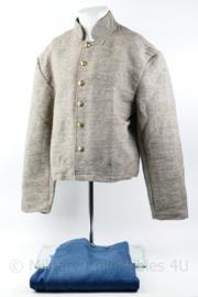 Amerikaanse Civil war jacket Jean Cloth met General Service trouser - jas en broek - maat 46 -  Replica