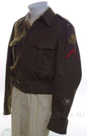 """MVO uniform jasje """"Aan en Afvoer troepen"""" - rang """"Soldaat der eerste klasse"""" - maat 47 - origineel"""