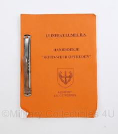 13 Infbat lubml R.S. Luchtmobiele Brigade Regiment Stoottroepen handboekje koudweer optreden -  origineel