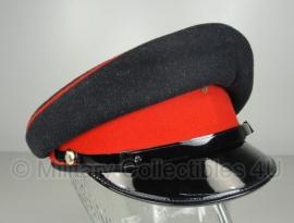 Leger platte pet - zonder insigne  - donkerblauw met rode band - 52 cm. - origineel