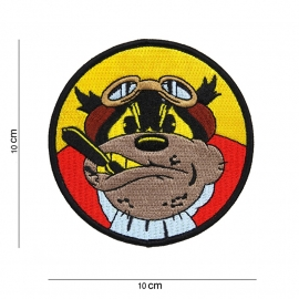 Flying bulldog patch - 10 cm. diameter