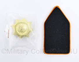 Defensie DT kraagspiegel ENKEL Regiment van Heutsz - nieuw in de verpakking - 8 x 4 cm - origineel