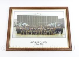 Defensie foto in lijst HQMNTF NW 2006 - 34  x 46 x 2 cm - origineel