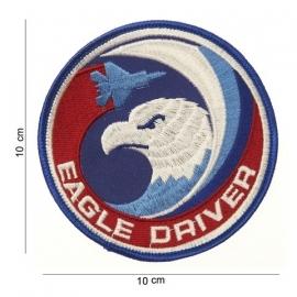Embleem Eagle Driver - F15 piloten - 10 cm.