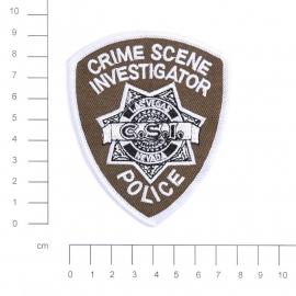 """Embleem stof """"CSI Crim Scene Investigation """" - 9 x 7,5 cm"""