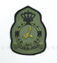 KLU Luchtmacht RNLAF 921 Squadron embleem - totum in unguis - 11 x 8 cm - origineel