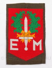 """KL DT eenheid embleem """"1ste divisie 7 december"""" - 5 x 7,5 cm - origineel"""