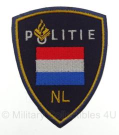 Nederlandse Politie embleem - Internationale missies - met klittenband - 10 x 8 cm
