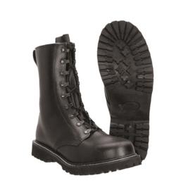 Jump boots / para boots met stalen neus - zwart leer - meerdere maten - nieuw gemaakt