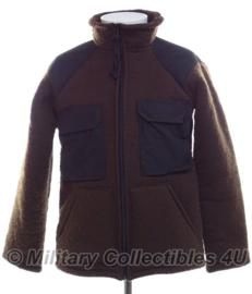US Army Brown Fleece Bear Jacket ECWS bruin - maat Large of XL - origineel