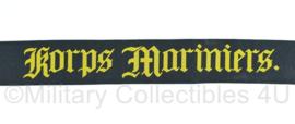 Korps Mariniers mutslint - ZWART - nagemaakt
