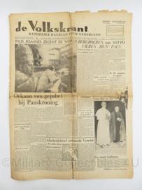 Krant de Volkskrant van 10 november 1958 Paul Joannes Kroning- origineel