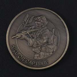 "Britse SAS Special Air Service coin ""‎Who Dares Wins‎"" - Kill or Capture - diameter 40 mm"