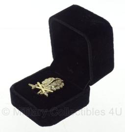 WO2 Duits Eichenlaub in Gold mit Diamanten und  schwerter - in doosje - replica