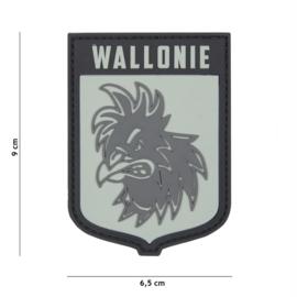 Embleem 3D PVC met klittenband - Wallonie - 9 x 6,5 cm.