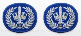 Gemeentepolitie arm emblemen - rang Brigadier - afmeting 7 x 6 cm - origineel