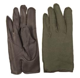 US wool glove met leren handpalm - glad wol - maat 8 of 8,5 - origineel