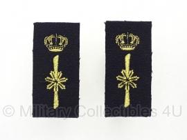 KM Nederlandse Marine set schouder insignes -  origineel