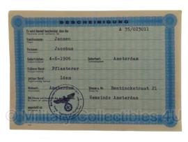 Stalag tewerkstelling - Nederlandse krijgsgevangene - Jacobus Jansen Amsterdam