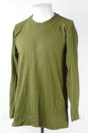 KL Landmacht shirt Lange Mouw- groen - maker: Dutraco - maat M  - origineel