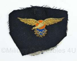 Koninklijke Marine zeldzame officier MLD Marine Luchtvaartdienst waarnemer wing van het uniform geknipt - 10,5 x 12 cm - origineel