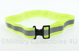 Defensie RE-FLEX reflectie koppel geel zilver Reflex Safety Reflective Extended Belt w/Buckle Closure-Neon Yellow - nieuw - 48x5 cm - origineel