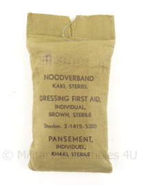 MVO Noodverband pakje - jaren 50 - 8 x 15 cm - origineel
