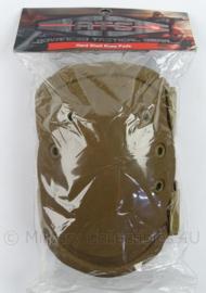 KL Landmacht en Korps Mariniers Kniebeschermers - ATG Hart Shell knee pads coyote - nieuw in verpakking - origineel