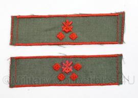 DDR NVA rang embleem set van 2 verschillende Gesellschaft fur sport - origineel