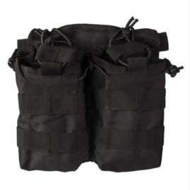 Magazijntas Double Magazin pouch Open Top koppeltas - MOLLE draagsysteem - 18 x 7 x 18,5 cm - ZWART