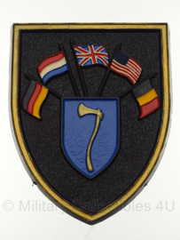 HQ Northern Army Group NSSE 1ste legerkorps wandbord - 11,5 x 9 cm - origineel