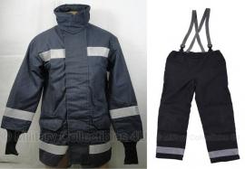 Brandweerkleding jas en broek set donkerblauw  - origineel brandweer!