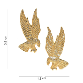 US American Eagle gold pin SET metaal - 3,5 x 1,8 cm